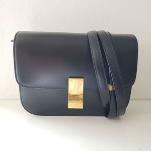 Celine Medium Calfskin Leather Bag in Box - Black
